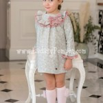 Vestido Evasé Gris Cachemir