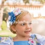 Diadema Azul Flores