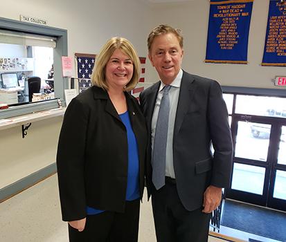 Governor Lamont visits Haddam