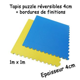 tapis puzzle pour arts martiaux et