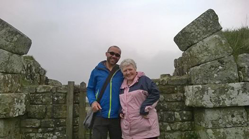 Lyn and Garret who enjoyed both the Wall and Durham Cathedral