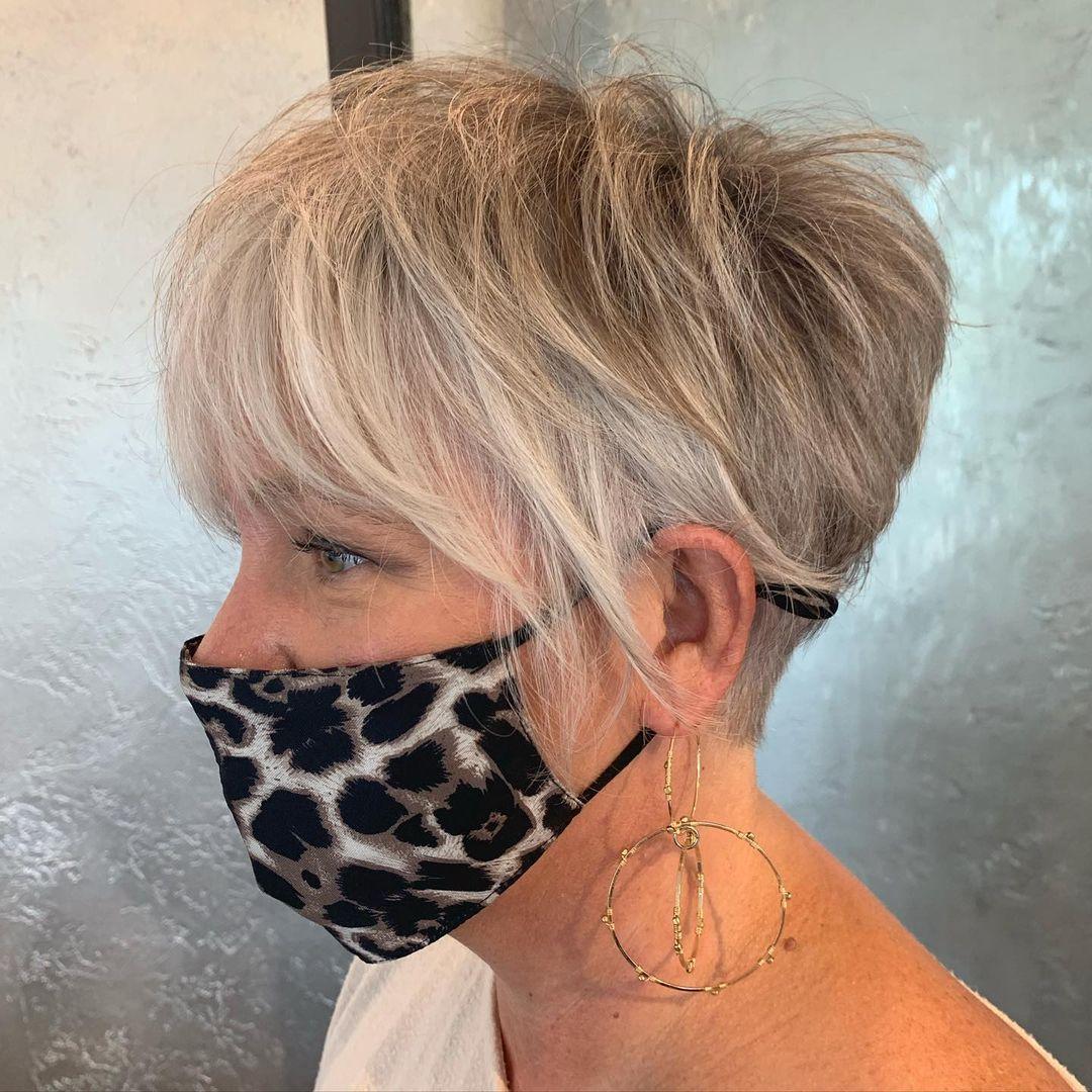 Effortless Ash Blonde Pixie