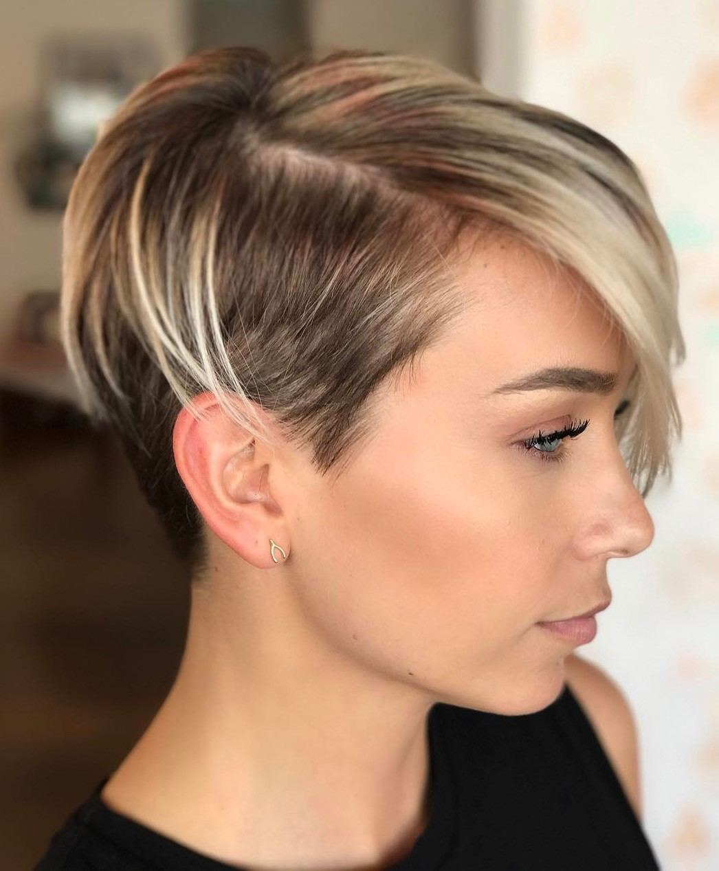 Short Asymmetrical Pixie with Side and Back Undercut