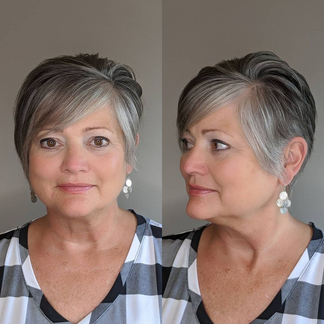 Professional Gray Hairstyle for Seniors