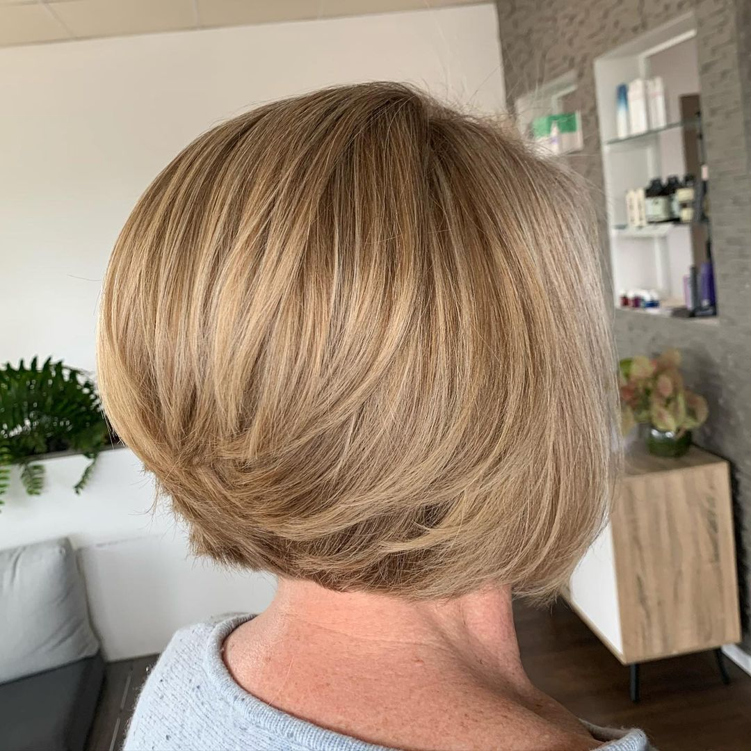 Swoopy Short Bob Over 50