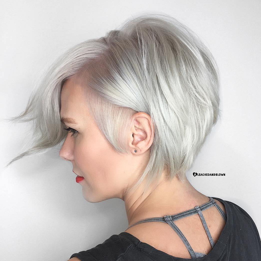 Long Silver Pixie for Thin Fine Hair