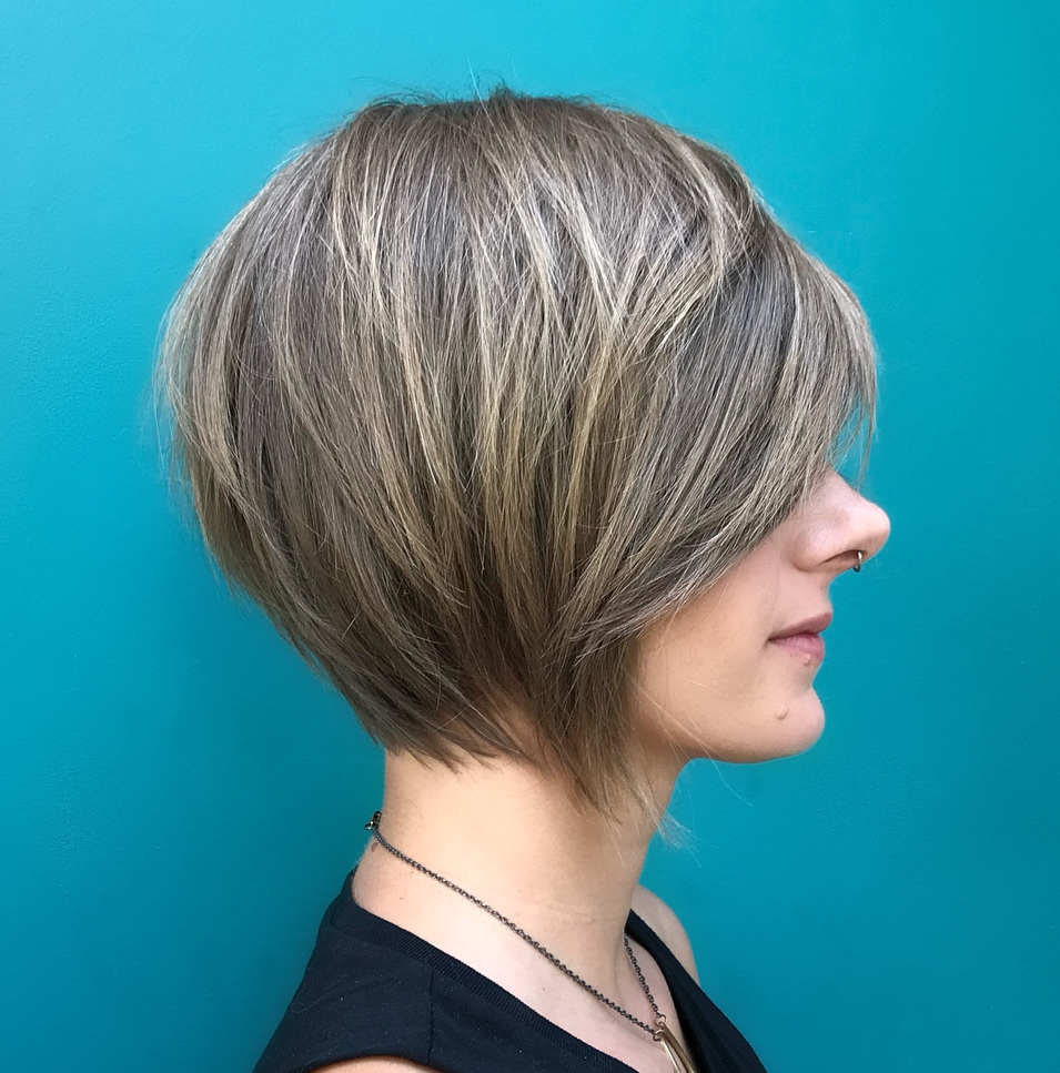 Chin-Length Layered Bob for Fine Straight Hair