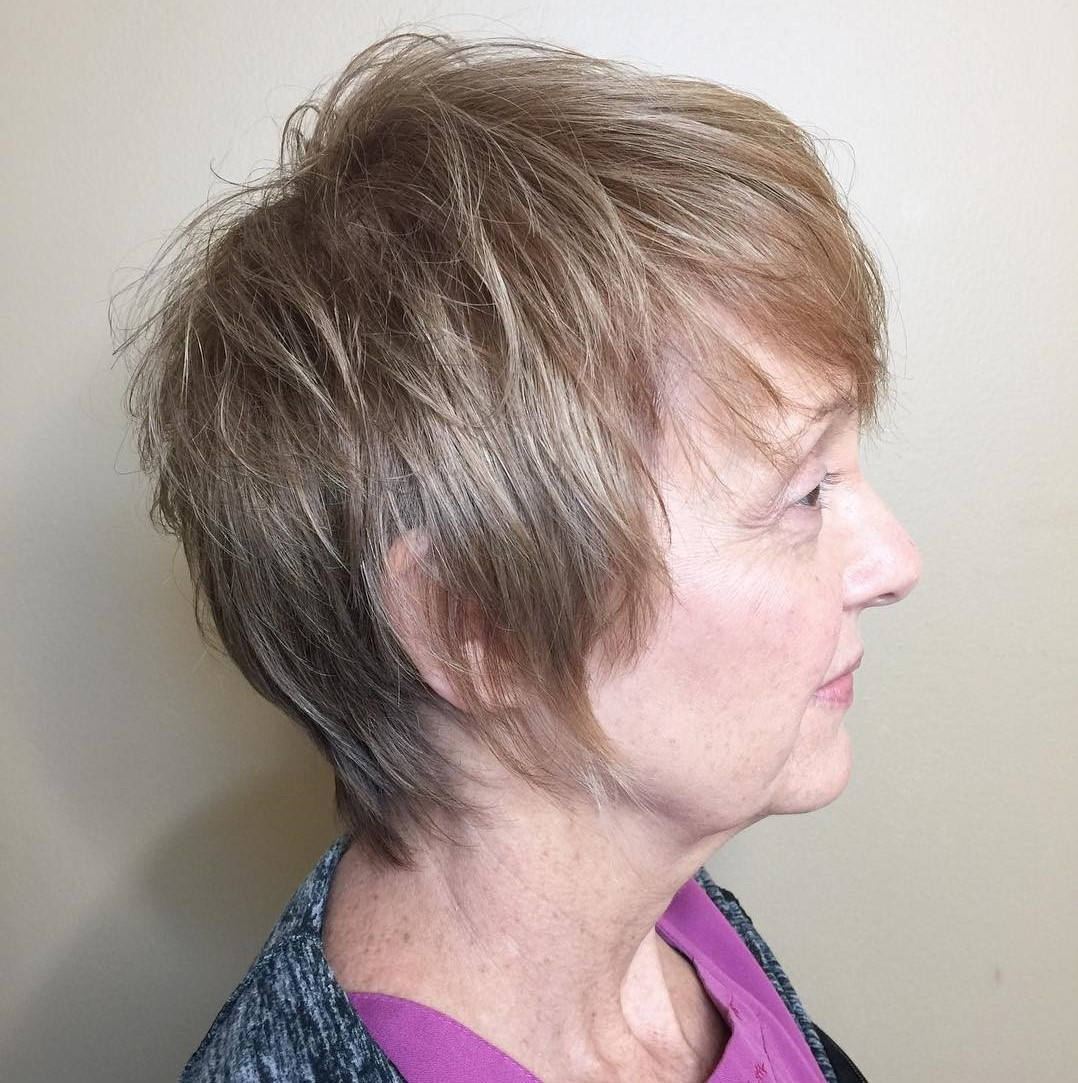 Long Thin Pixie Haircut for Women over 60