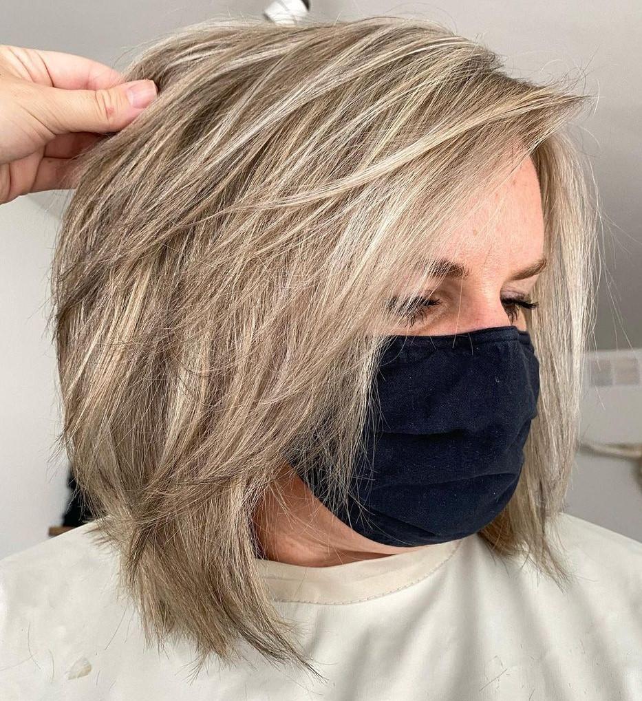 Over 50 Medium Haircut for Women