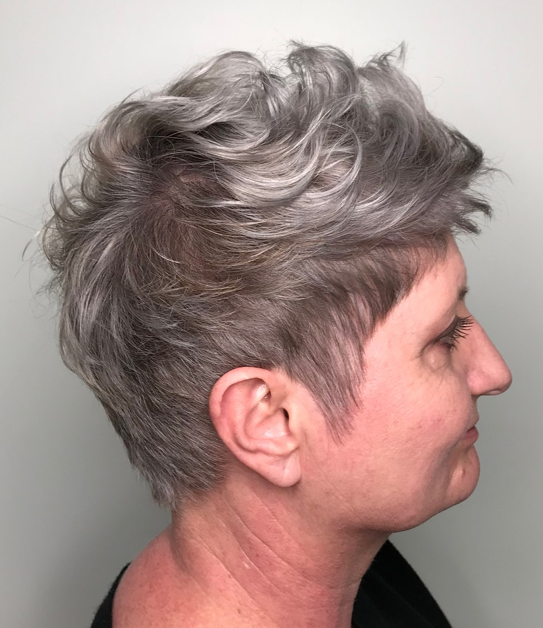 Gray Pixie for Wavy Hair