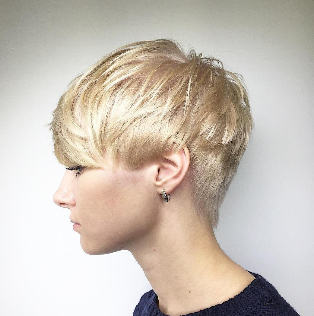 Short Choppy Haircut for Finer Textures