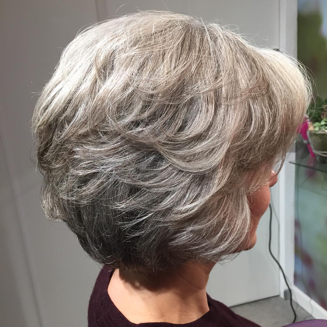 Shorter Textured Salt and Pepper Haircut for Thick Hair