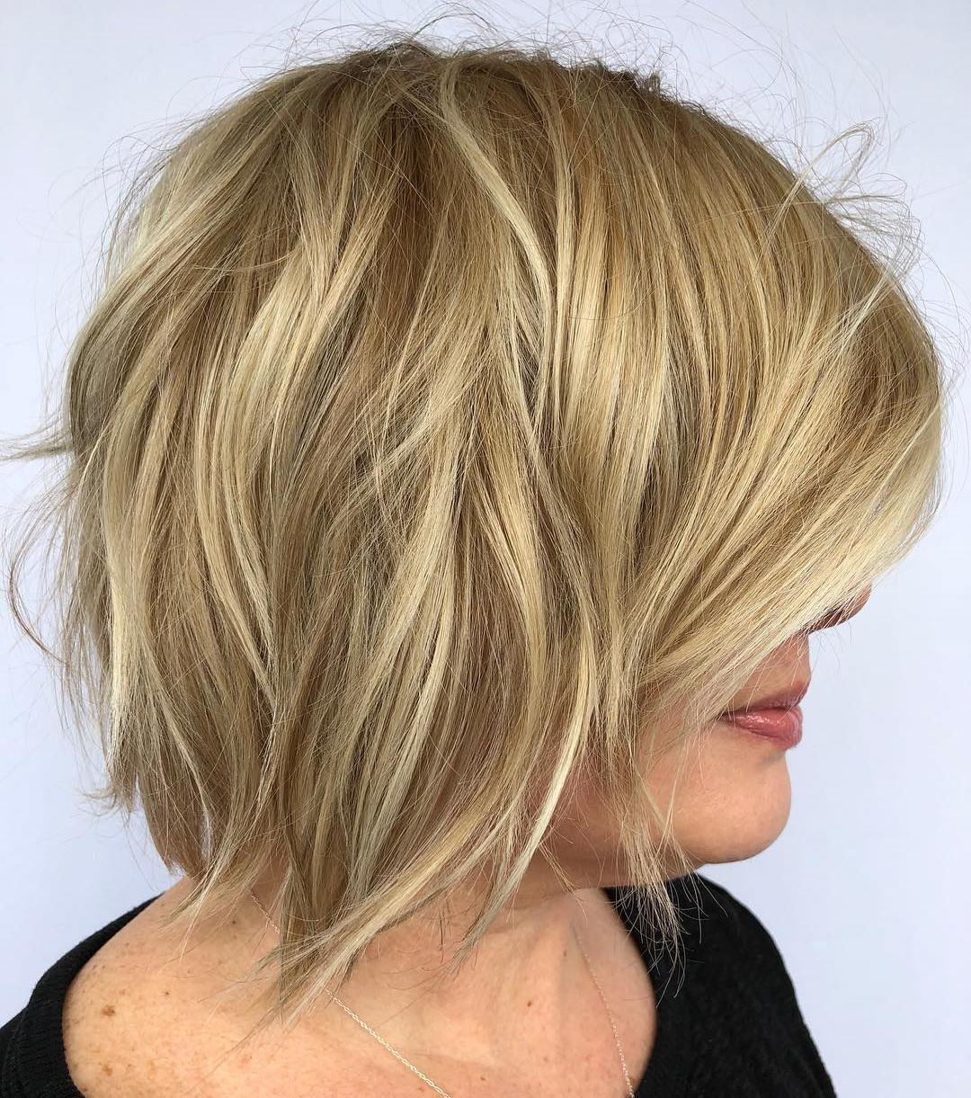 Over 50s Golden Blonde Bob