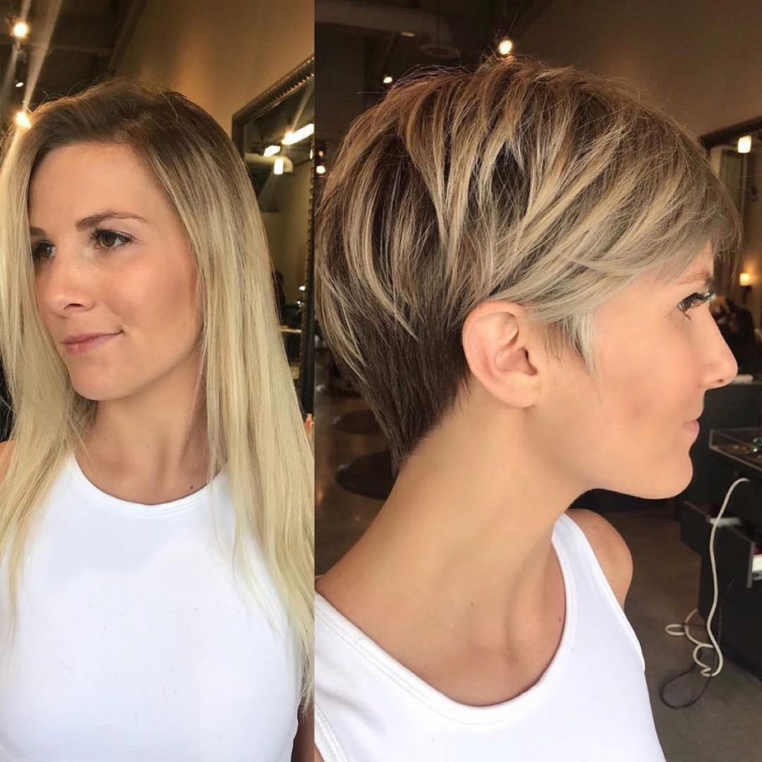 Short Undercut Hairstyle with Layers