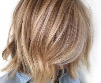 uneven bronde bob hairstyle