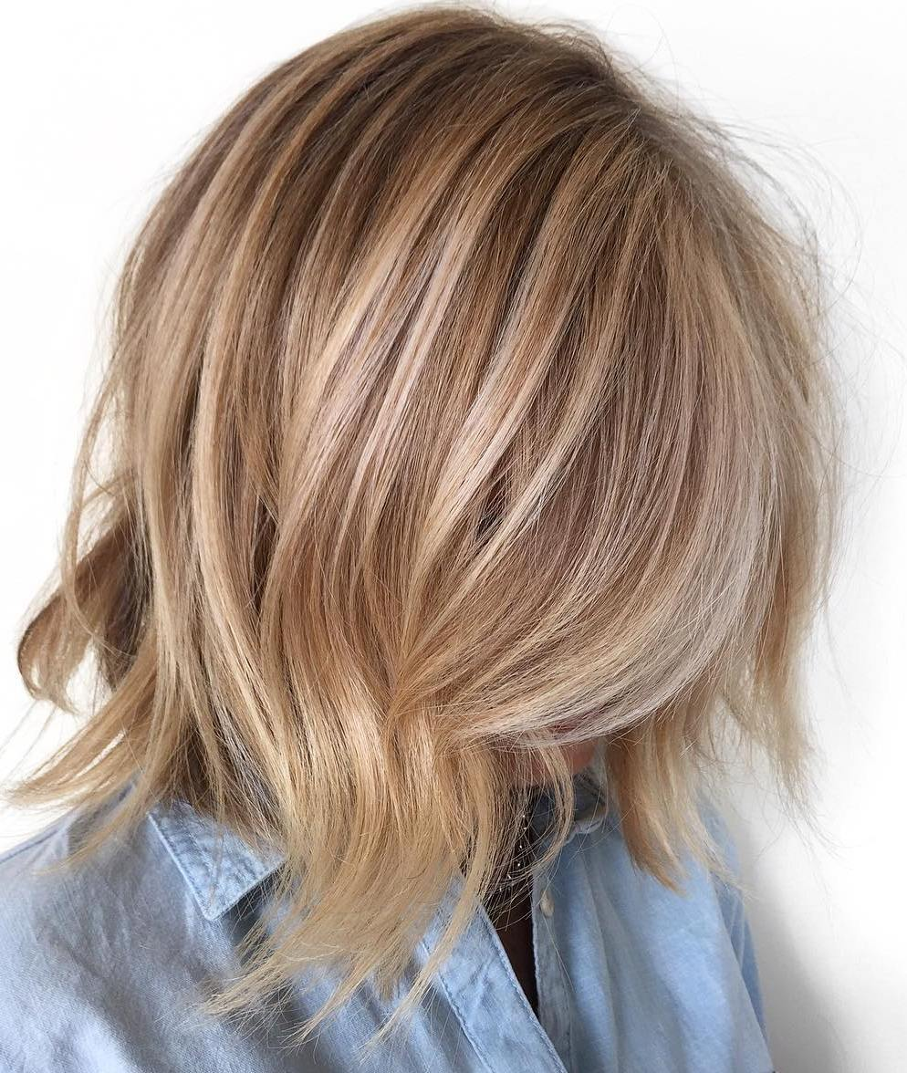 Bronde Jagged Bob for Thin Hair