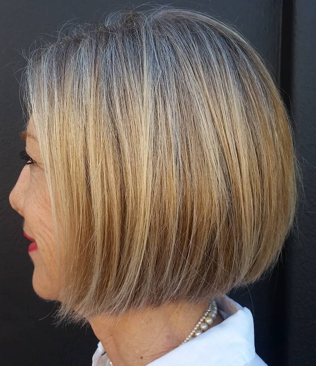 One-Length Blunt Golden Blonde Bob