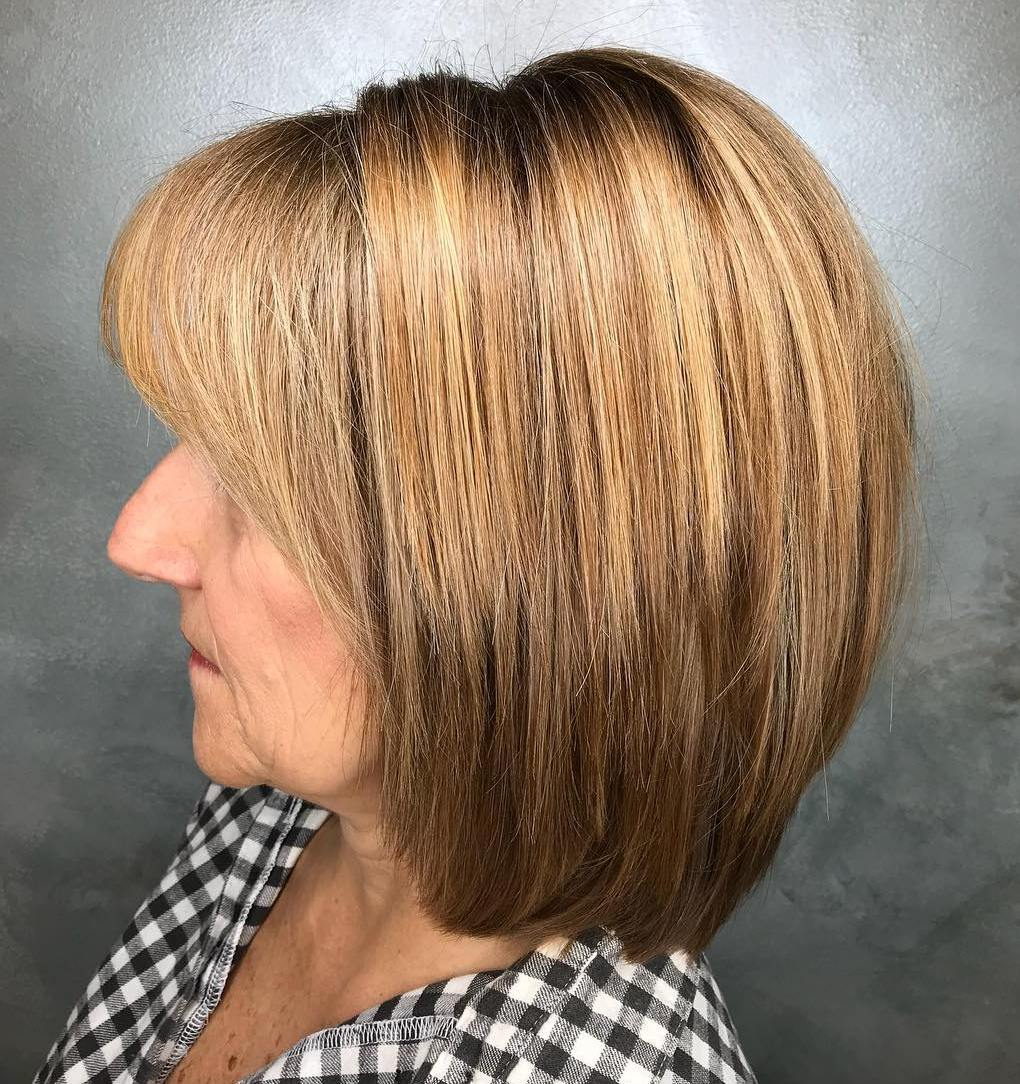 Light Brown Bob with Bangs
