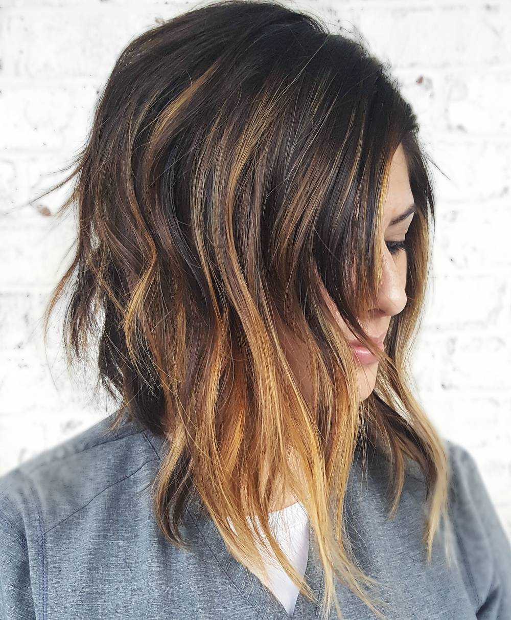 Edgy A-Line Haircut for Women with Thick Hair