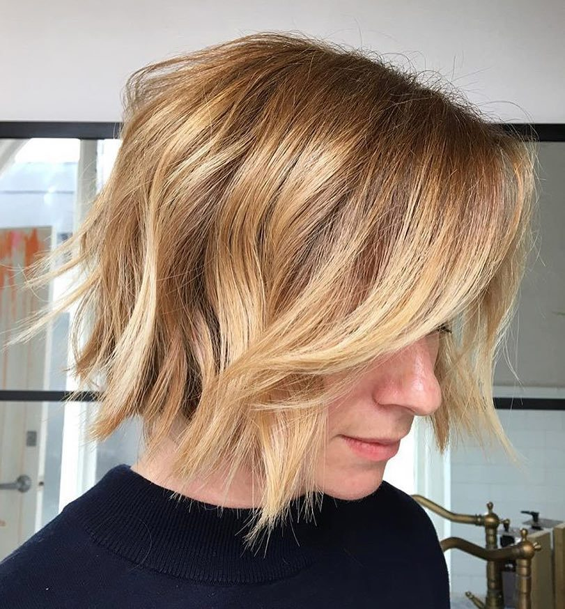 Short Choppy Golden Blonde Pixie Bob
