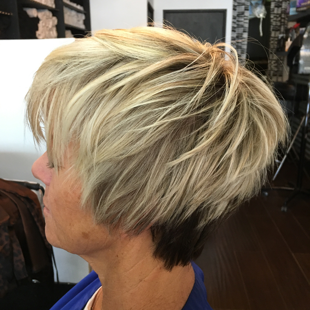 Long Two-Tone Choppy Pixie
