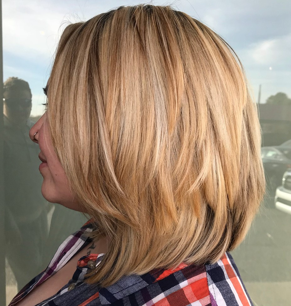 Medium Bob with Piece-y Layers