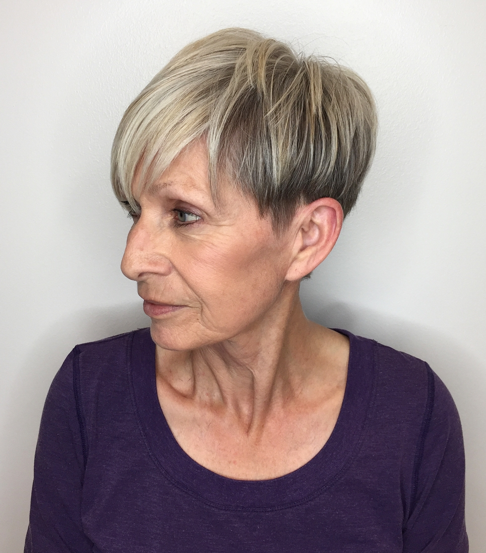 Over 50 Undercut Choppy Pixie