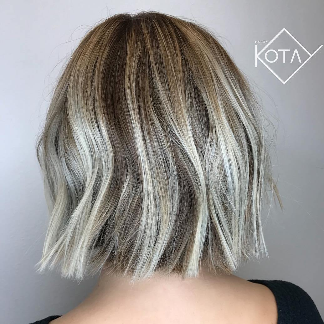 Cool-Toned Bronde Disconnected Bob for Fine Hair