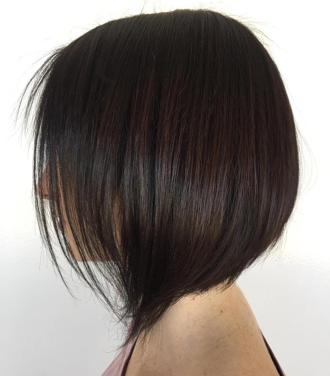 Sleek Straight Brown Bob Blowout