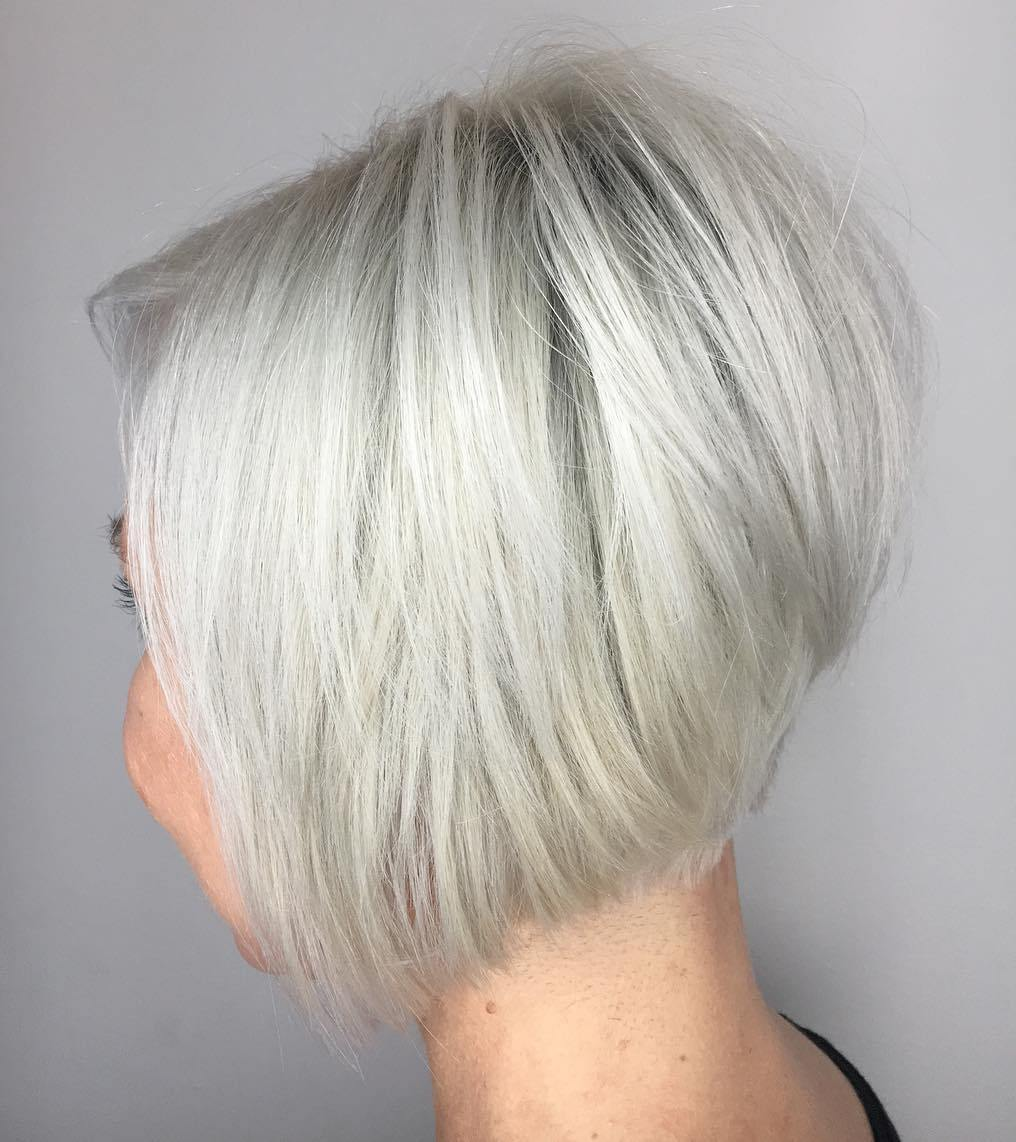 Short Stacked Silver Fine Bob with Body