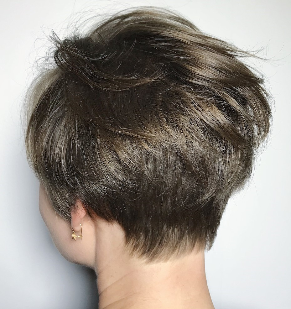 Mousy Brown Pixie Crop