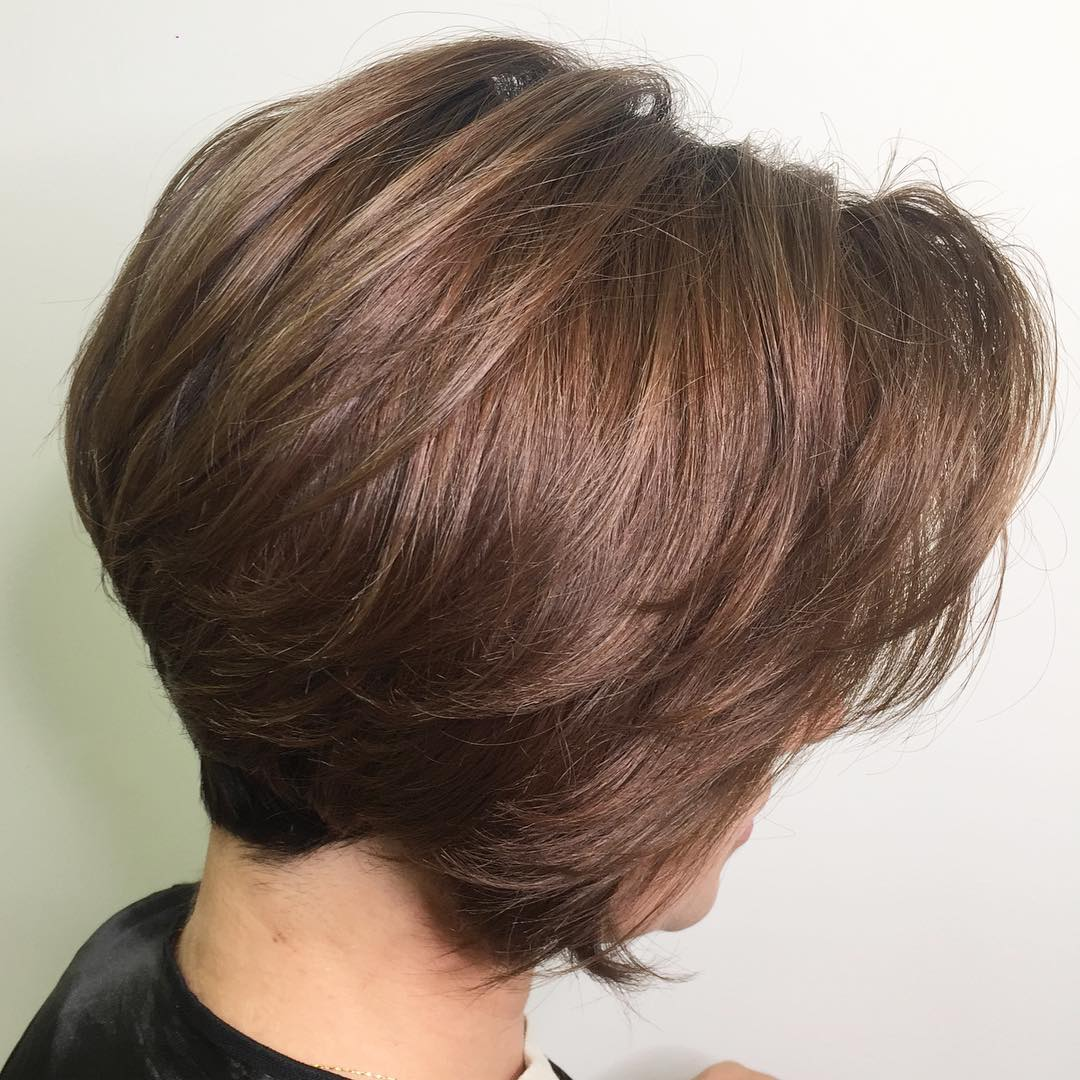 Short Thick Haircut with Long Layers