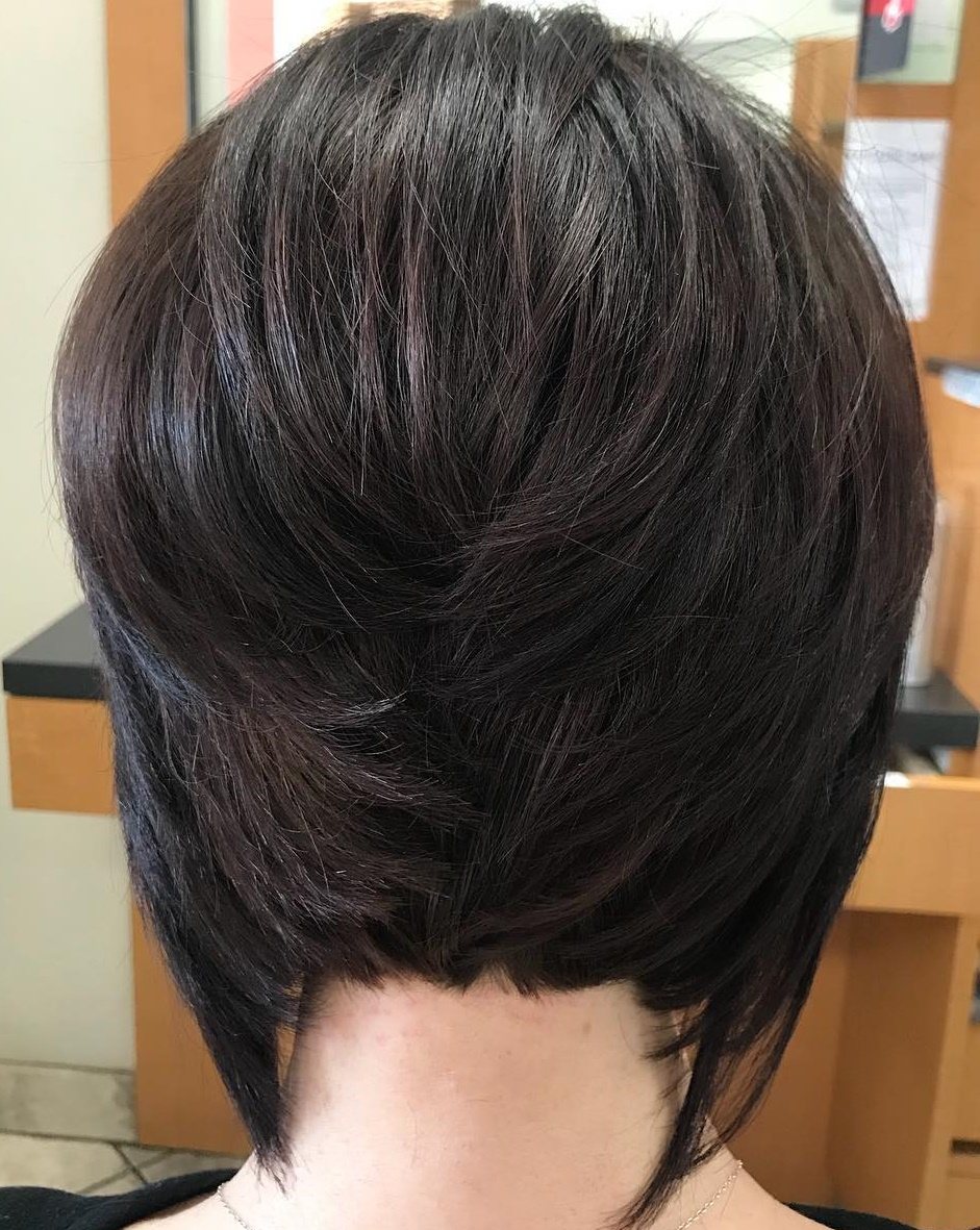 Short Layered Bob with Elongated Back Pieces