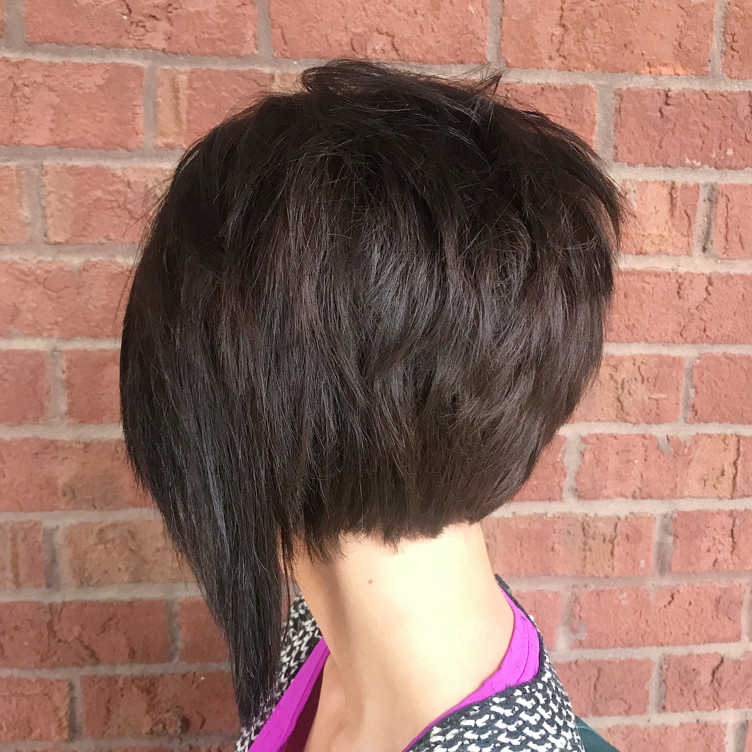 Modern Nape-Length Bob with Long Front Pieces