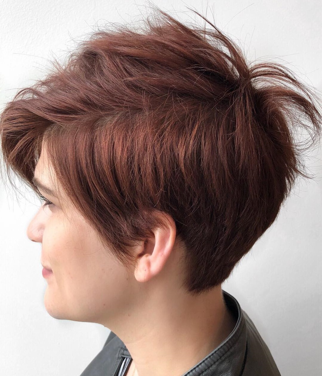 Mahogany Brown Tapered Pixie