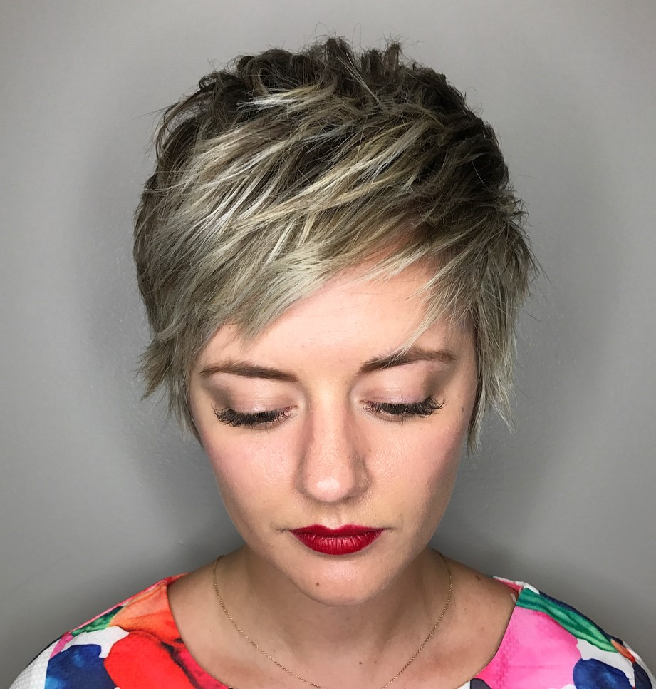 Short Layered Shaggy Pixie