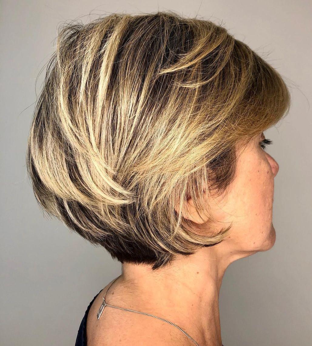 Elegant Short Layered Hairstyle