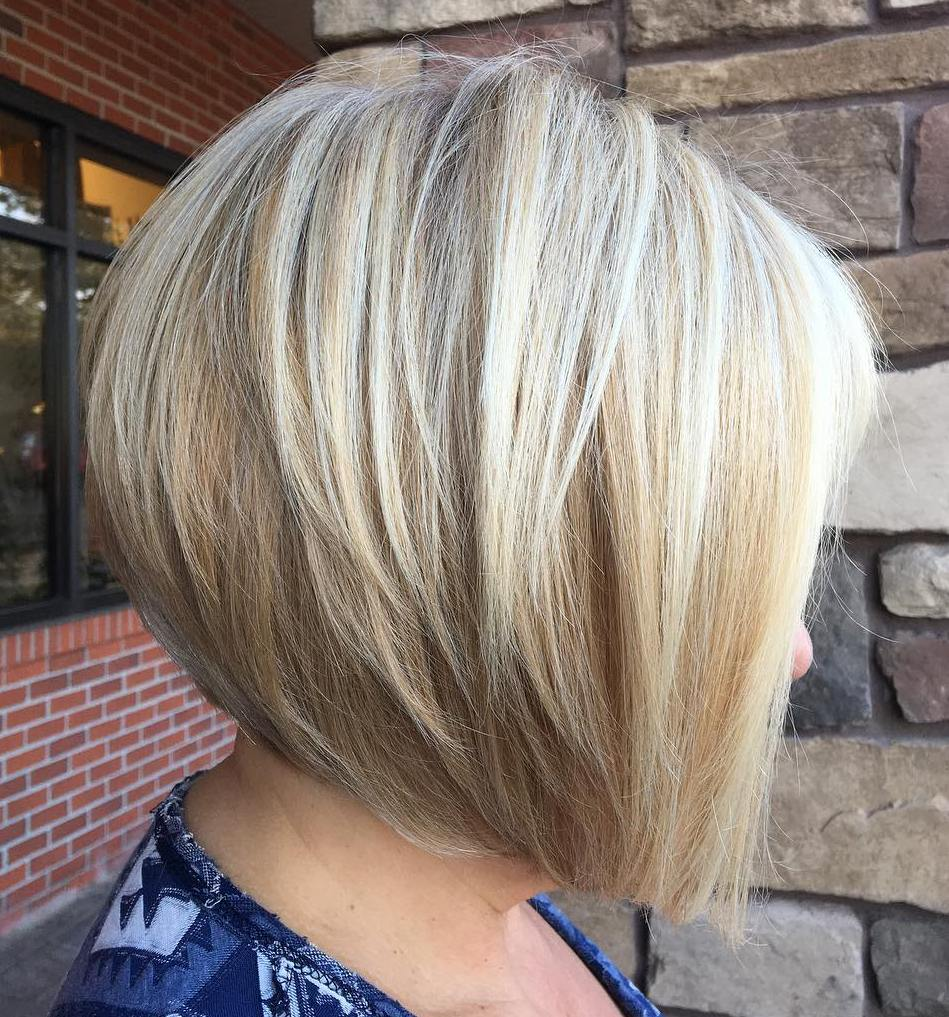 Inverted Blonde Balayage Layered Bob