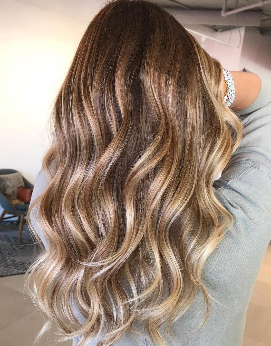 Romantic Dark Hair with Caramel Balayage
