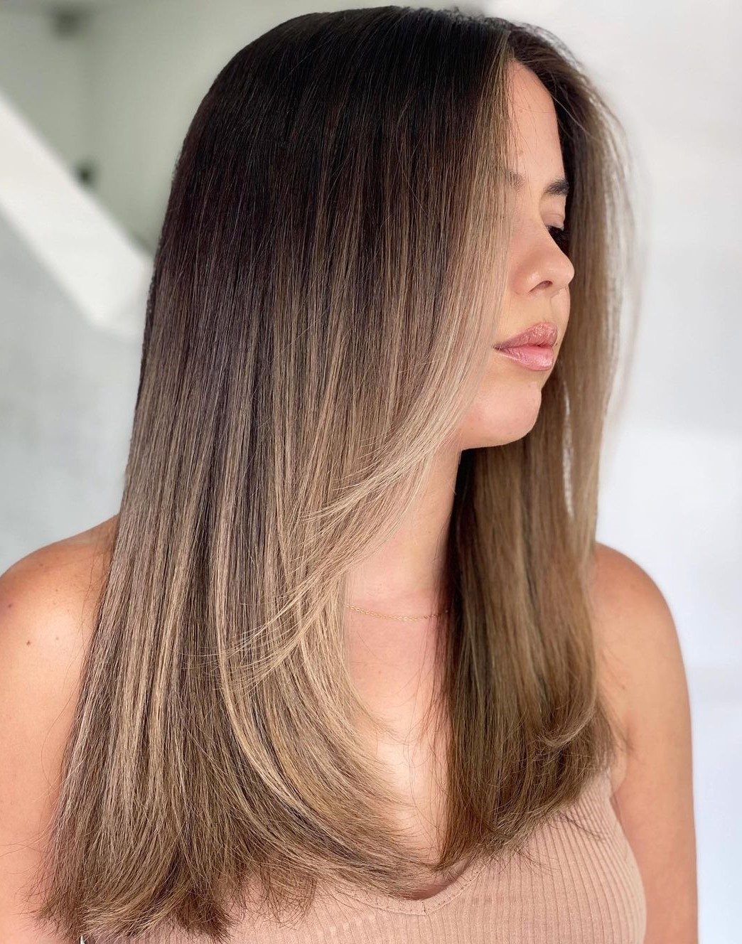 Beige Brown Hair Balayage