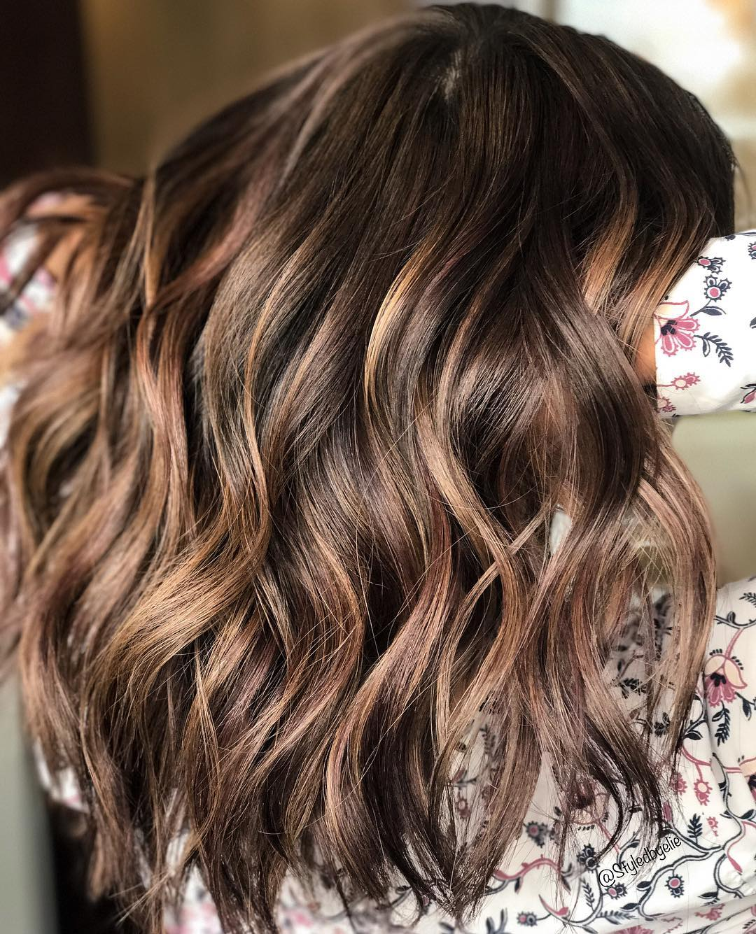 Chocolate Brown Hair with Waves