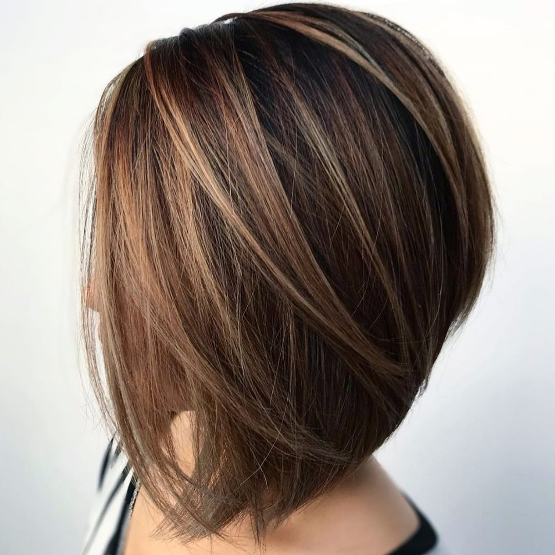 Voluminous Inverted Medium Bob for Thick Hair