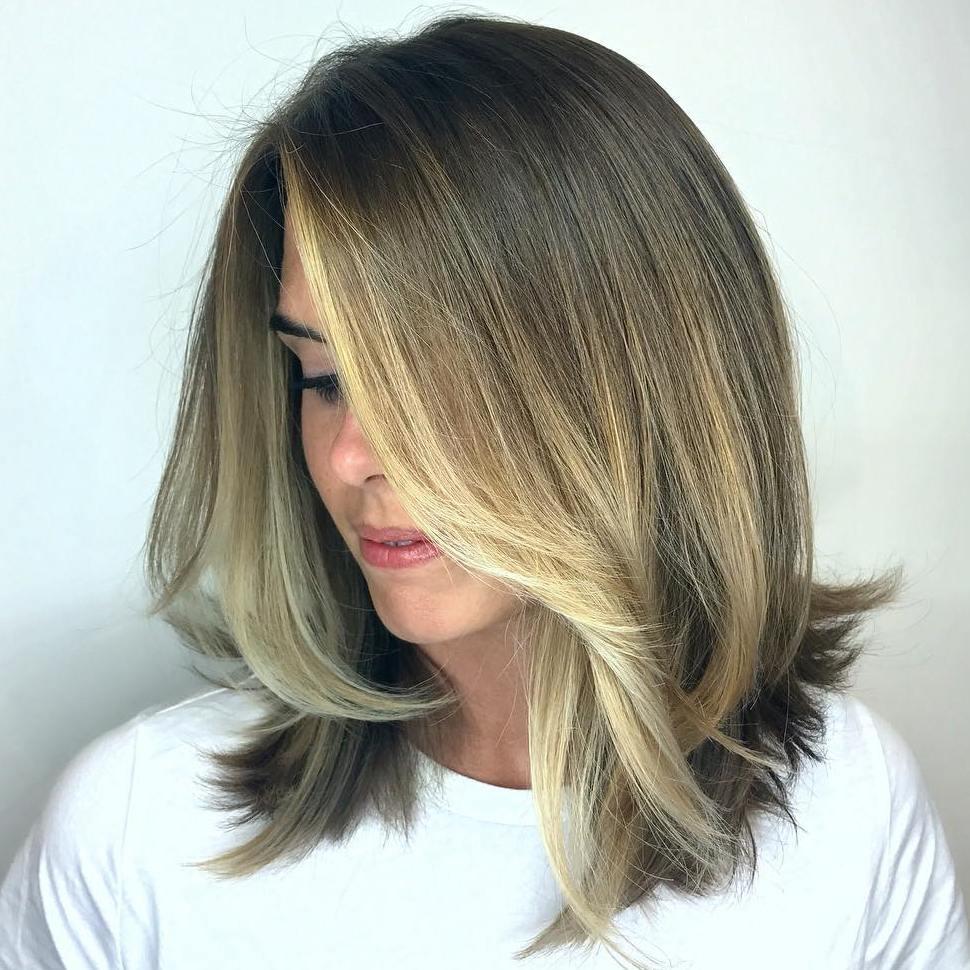 Face-Framing Medium Haircut for Thick Hair