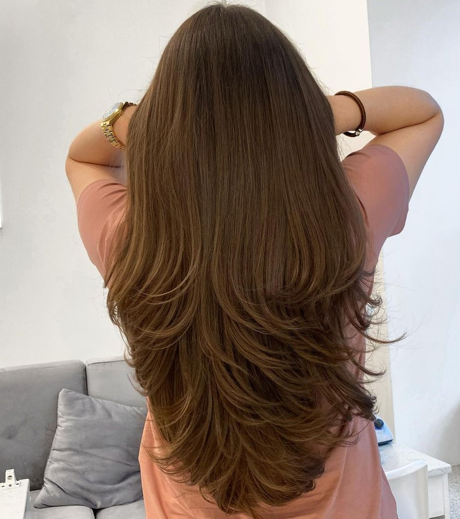 Beautiful Layered Hairstyle for Long Hair