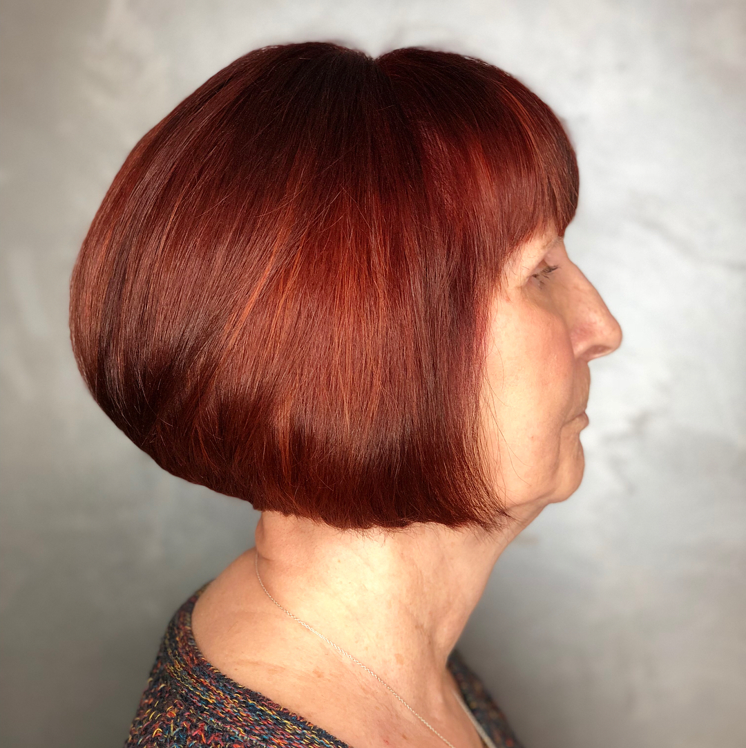 Over 70 Chin-Length Bob with Bangs