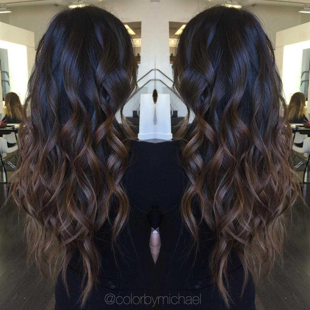 Black and Chocolate Ombre Hair