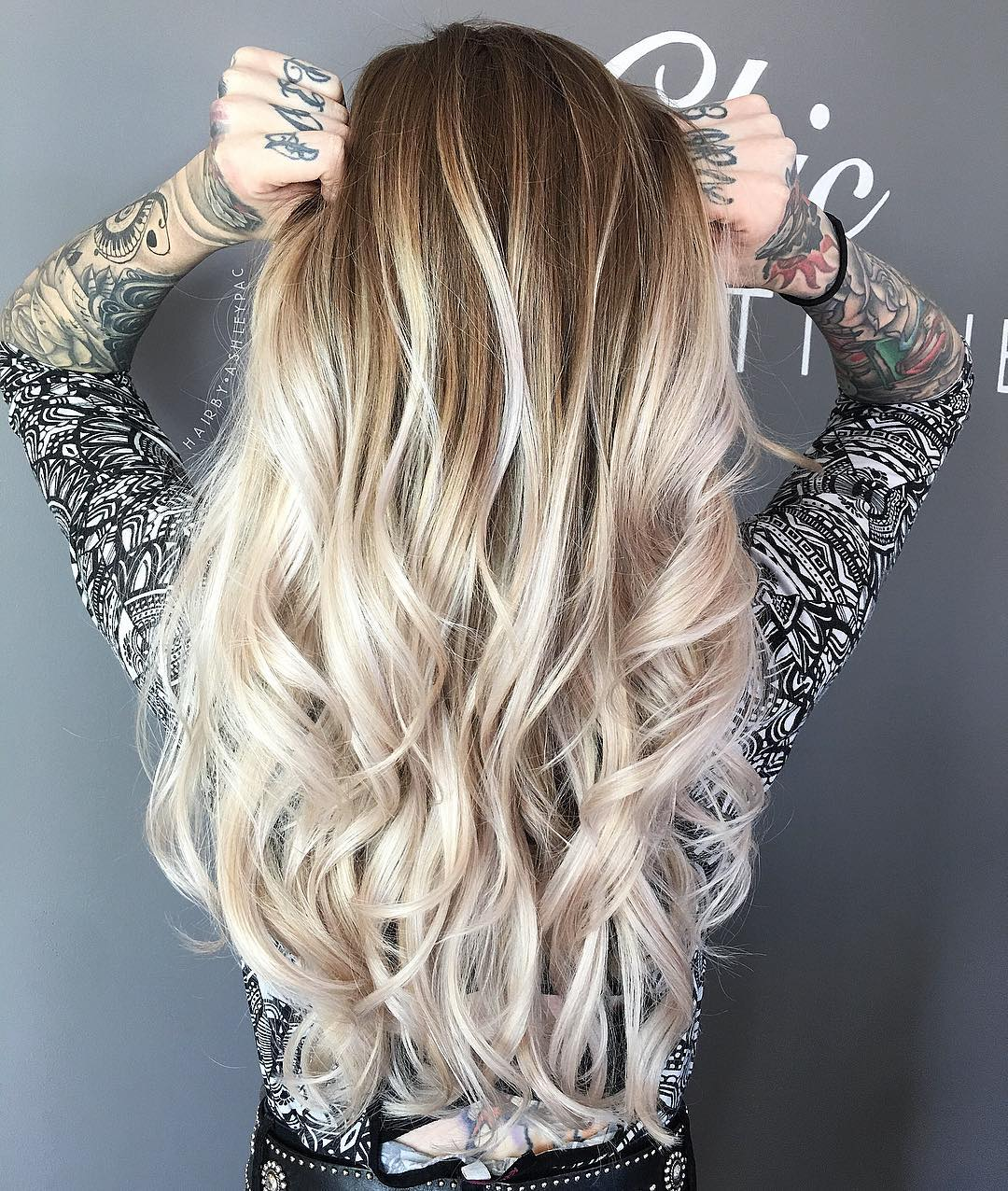 Extra Long Hair with Layers and Balayage