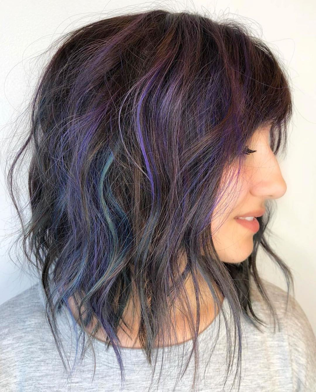 Layered Medium-Length Hairstyle for Thick Hair