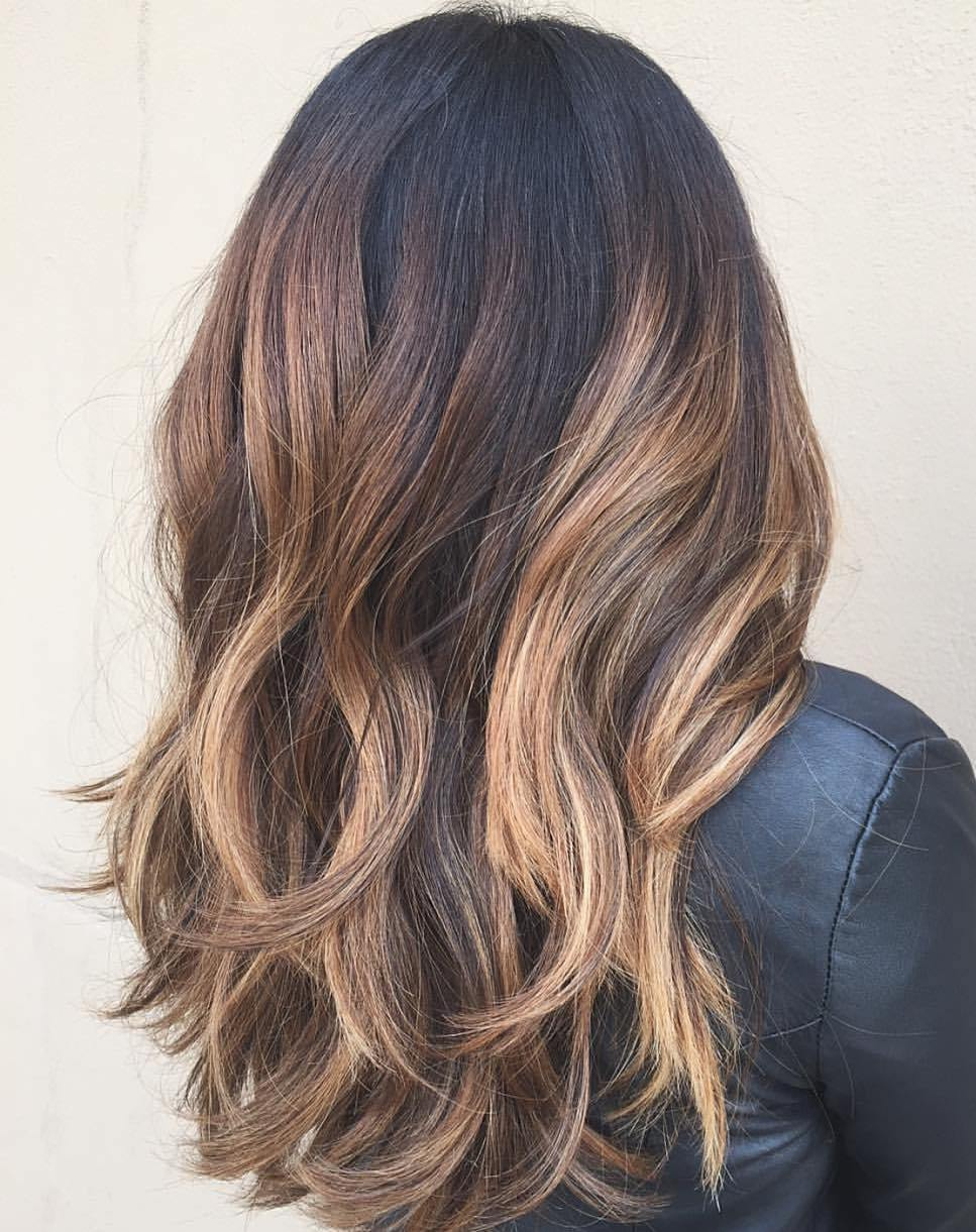Long Caramel Hair with Layers