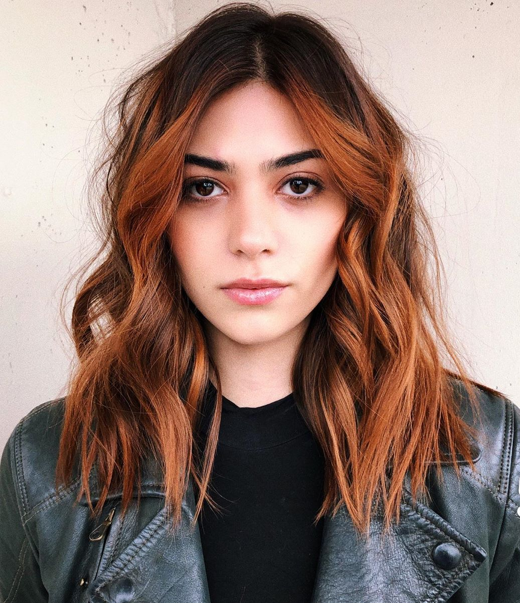 Mid-Length Cut for Thick Hair with Waves